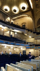 ASTC Members had a quick visit to the Orpheum Theatre as it loaded in for an event.  The adjustable orchestra seating floor was an interesting feature.