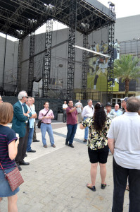 Touring Champions Plaza outside the Mercedes-Benz SuperDome.