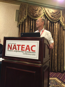 ASTC Member Robert Long participates in a NATEAC session: Modern Engineering in Old Broadway Theatres