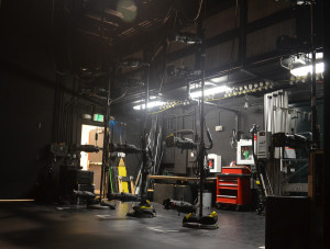 View of another backstage area.  Can you find the hose cabinet?  Photo by Paul Sanow ASTC